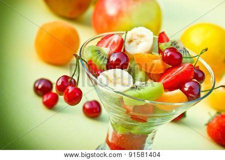 Fruit salad with organic fruit