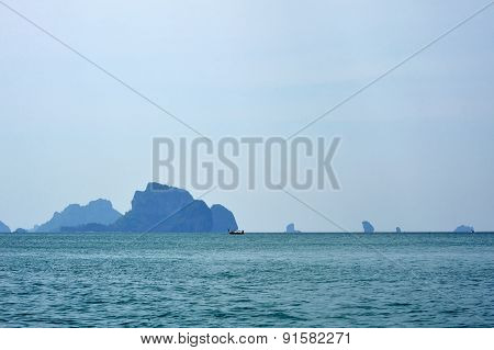 Islands In Haze On The Horizon
