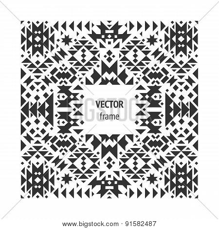 Vector abstract geometric frame