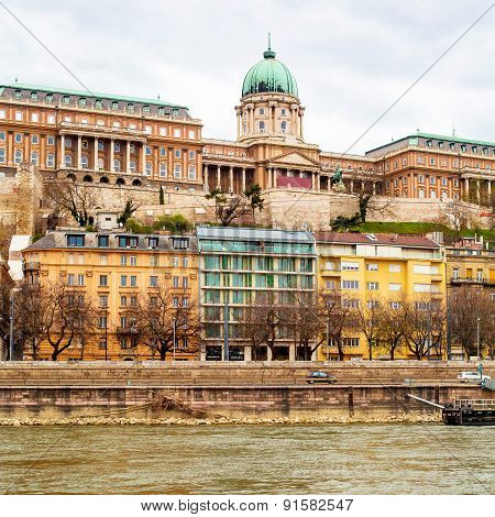 Buda Castle or Royal Palace in Budapest, Hungary