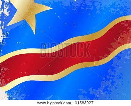 Democratic Republic Of The Congo Flag Grunge