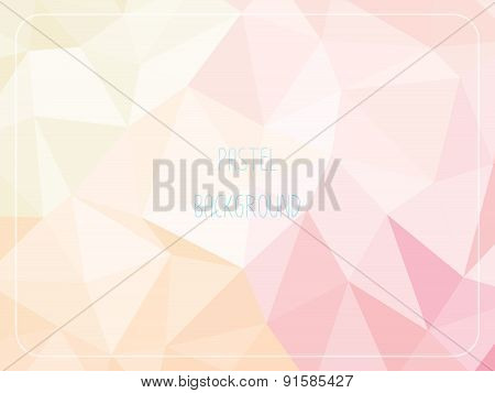 Pastel Polygon Geometric Abstract Background