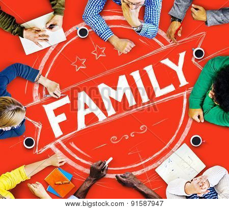Family Relationship Parenting Generation Concept