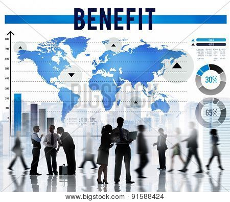 Benefit Profit Values Welfare Income Concept