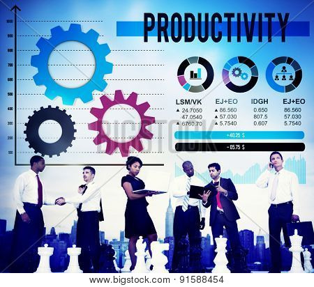 Productivity Production Efficiency Capacity Concept
