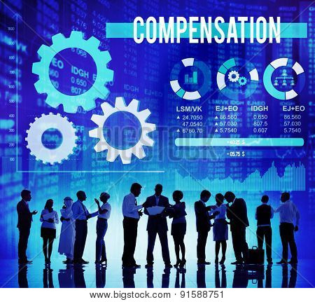 Compensation Economy Financial Money Payment Concept