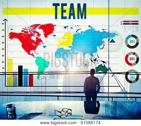 Team Teamwork Cooperation Connection Concept