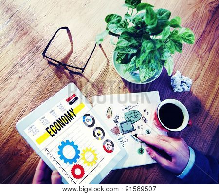 Economy Economic Global Business Financial Concept