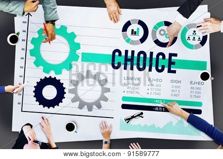 Choice Change Chance Decision Development Concept