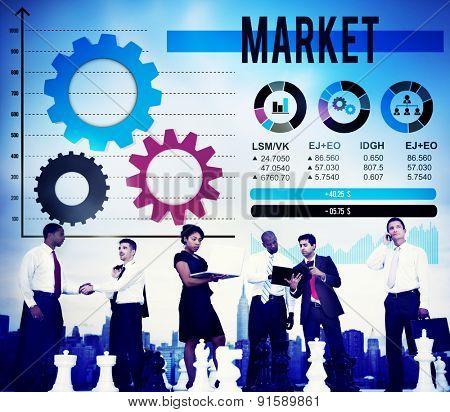 Market Marketing Advertising Branding Business Concept