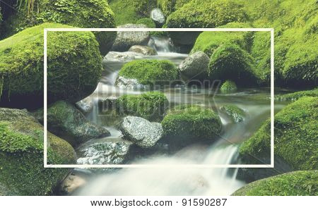 Cascading Waterfall Cascading Atmosphere Greenery Concept