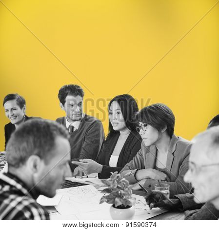 Group of Business People Discussion Office Concept