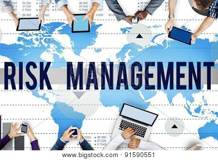 Risk Management Control Analysis Protection Concept
