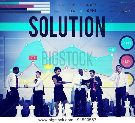 Solution Problem Solving Organization Management Concept