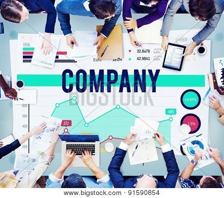 Company Organization Group Corporate Concept