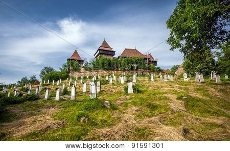 Fortified Church Cemetery At Viscri In Transylvania