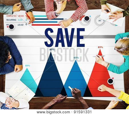 Save Accounting Banking Money Finance Concept