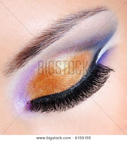 Brightly Colors Of A Fashion Makeup