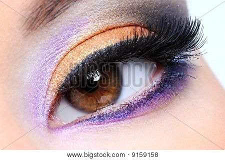 Human Eye With Glamour Make-up