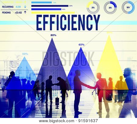 Efficiency Improvement Achievement Business Success Concept