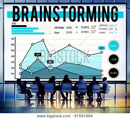 Brainstorming Meeting Planning Plan Business Concept