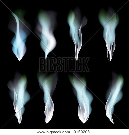 Dark Blue Abstract Vector Background Smoke