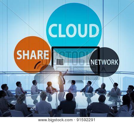 Cloud Computing Database Transfer Internet Technology Concept