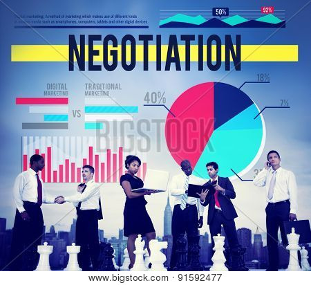 Negotiation Agreement Contract Marketing Business Concept