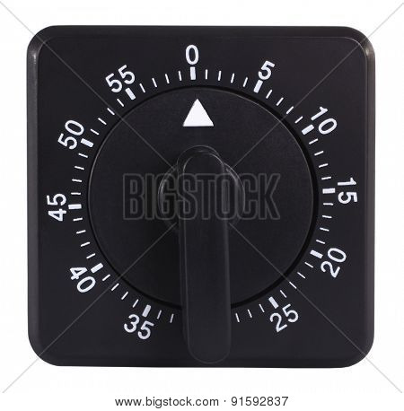 Black kitchen timer