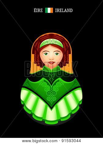 Matryoshkas of the World: Irish dancer girl
