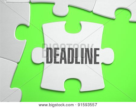 Deadline - Jigsaw Puzzle with Missing Pieces.