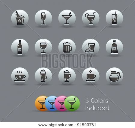 Drinks Icons // Pearly Series
