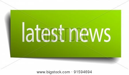 Latest News Green Paper Sign Isolated On White