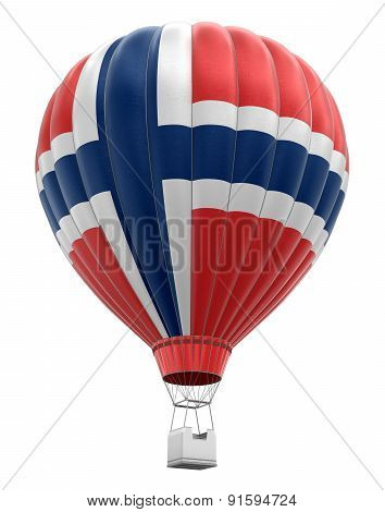 Hot Air Balloon with Norwegian Flag (clipping path included)