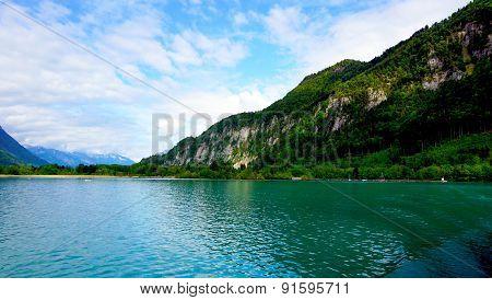 Landscape Of Thun Lake