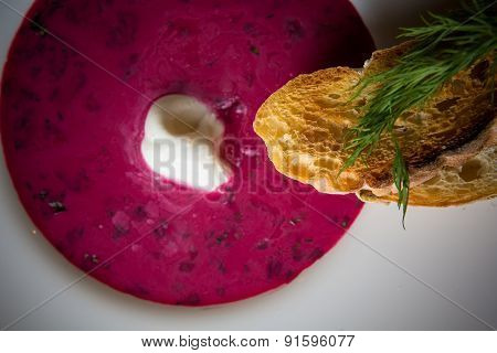 Cold summer Beets soup