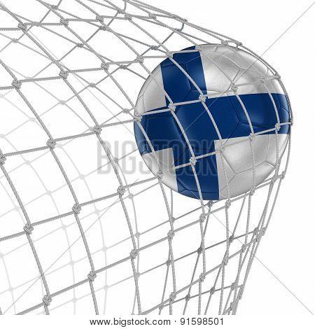 Finnish soccerball in net
