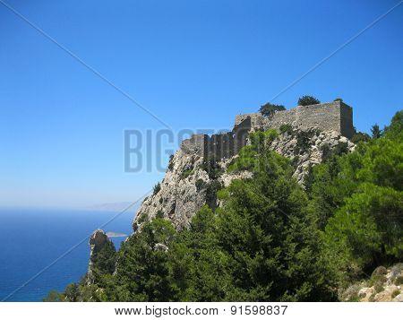 Monolithos Castle On Rhodes Island, Greece