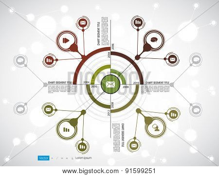 Timeline Infographics. Vector design template.