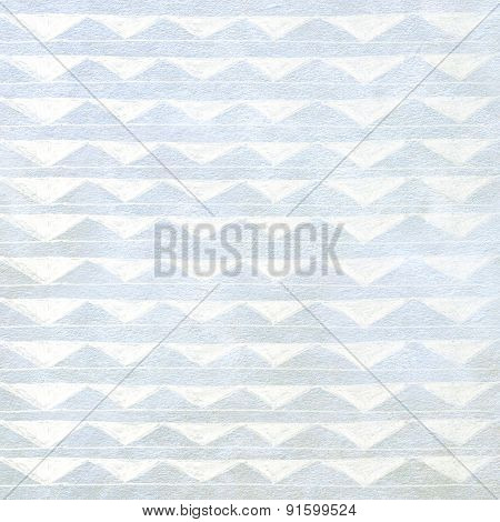Handmade Ornament triangle Prints On gray Paper Background - Abstract Graphic Design