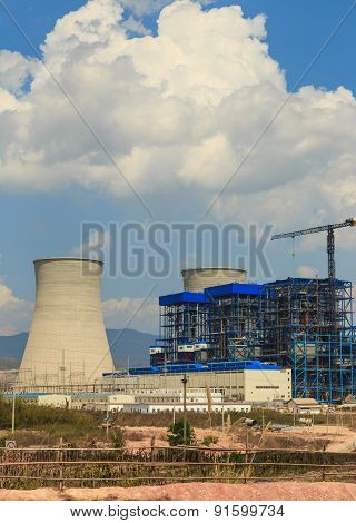Under Construction Of Lignite Power Plant