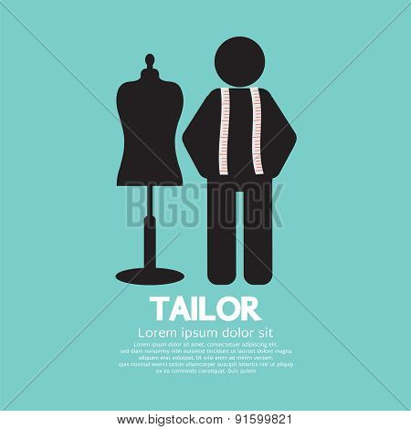 Black Symbol Tailor With Mannequin.