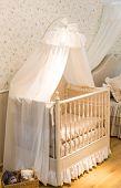 stock photo of bassinet  - Baby cot - JPG
