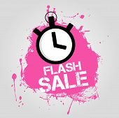 pic of flashing  - Pink icon to flash sales with a watch - JPG