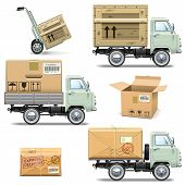 pic of crate  - Delivery retro light truck - JPG