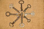 pic of hasp  - Some vintage keys from the locks on old cloth - JPG