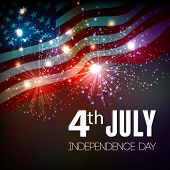 stock photo of usa flag  - Fireworks background for 4th of July Independense Day - JPG