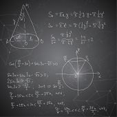foto of mathematics  - Abstract Background with mathematical formulas - JPG
