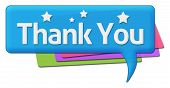 picture of give thanks  - Thank you text with stars written over colorful background - JPG