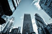 stock photo of british culture  - Skyscrapers in City of London - JPG